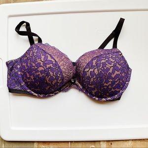 Victoria's Secret Purple Lace Push up Bra